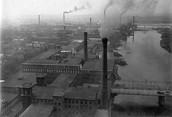 Bird eye view of factory