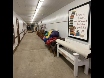 Ground Floor hallway w/ temp storage