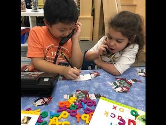 Learning their phone numbers in Kindergarten.