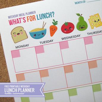 January Lunch Calendar