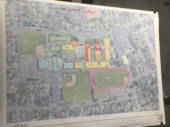 Identified areas for future classrooms