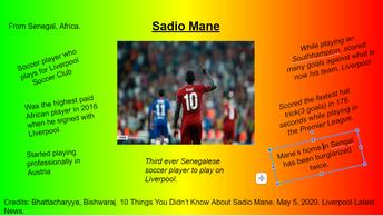 Sadio Mane - Soccer player