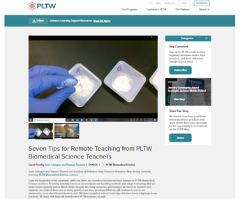 Hoboken High School's Biomedical Science Teachers Mr. Samuel Thomas and Mr. Jean Lebegue Offer Seven Tips for Remote PLTW Teaching