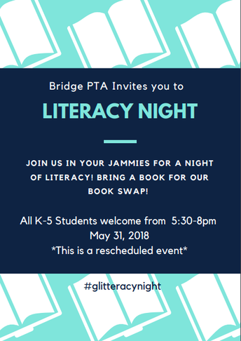 Literacy Night Rescheduled Update