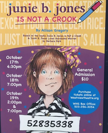 Westview High School Theater  presents Junie B. Jones is not a Crook
