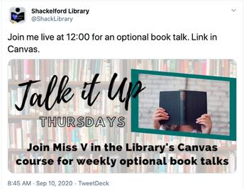 Arlington ISD Librarian Offers Virtual Book Talks