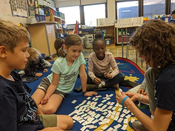 Mrs. Smith's 2nd Graders Collaborate on Phonics Word Work