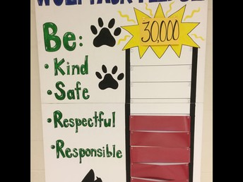 Working toward our Schoolwide Goal!