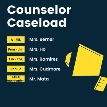 Counselor Caseloads:
