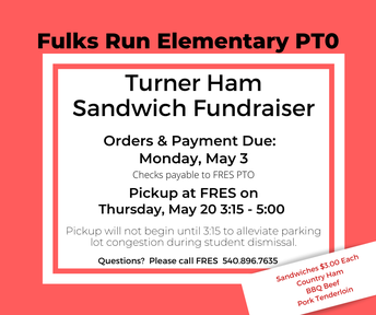 Picture of FRES PTO Turner Ham Sandwich Fundraiser flyer