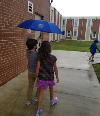 Sharing an Umbrella!