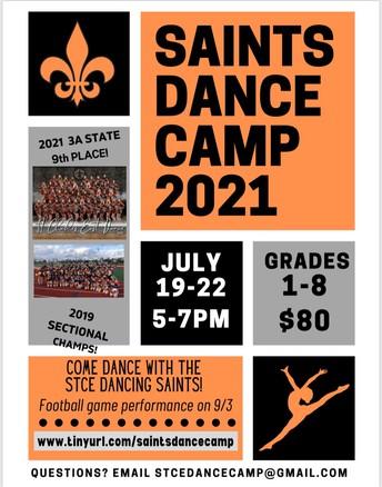 Campamento de baile de los Saints 2021
