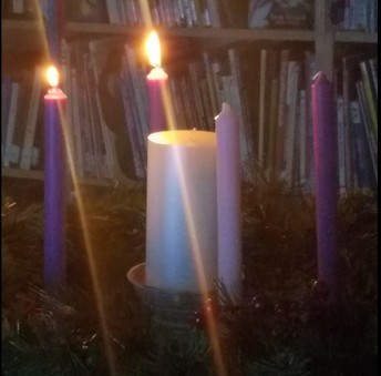 Advent wreath, week 2