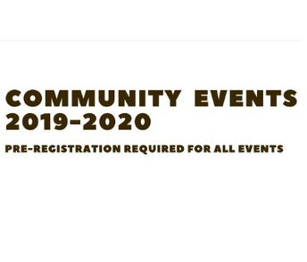 Family & Community Events for 2019-2020