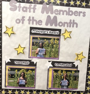 August Staff Members of the Month