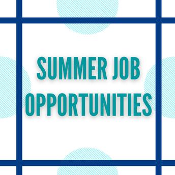 SUMMER JOB OPPORTUNITIES