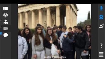 Gli studenti greci ci fanno da guide nell'antica Agorà di Atene