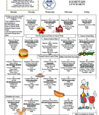 EES Lunch Menu-October