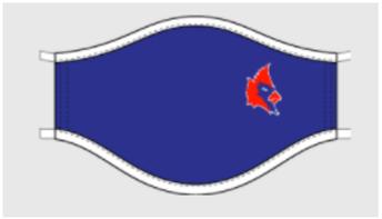 Spirit Wear: Blue Cardinals Mask