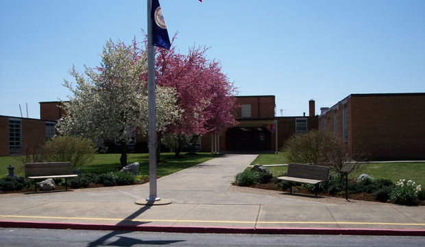 Picture of John C Myers Elementary School entrance