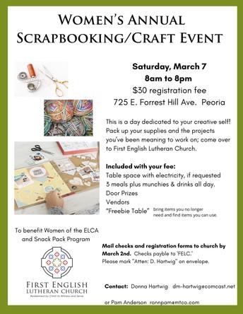 Scrap and Craft Event