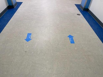 Traffic patterns in the building