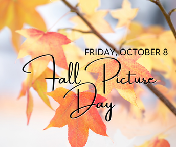 Photo of October 8 Fall Picture Day Flyer