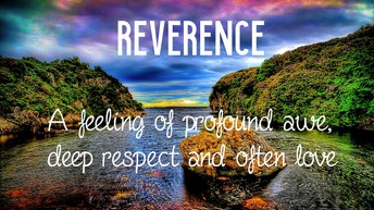 Virtue of the Month - Reverence
