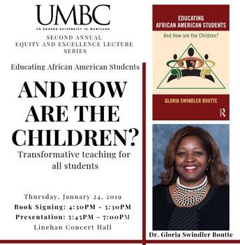 Dr. Boutte Visits UMBC