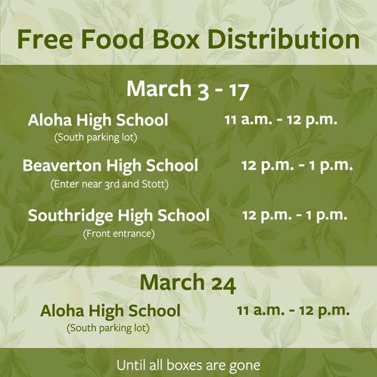 Free Food Box Distribution