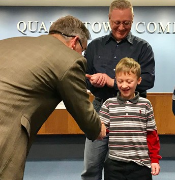 See the video: Neidig 2nd grader described as an 'outstanding young citizen'