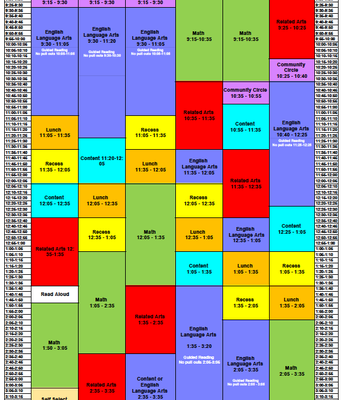 CCES Master Schedule