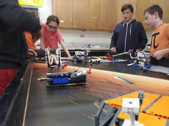 CMS Robotics Club students and project