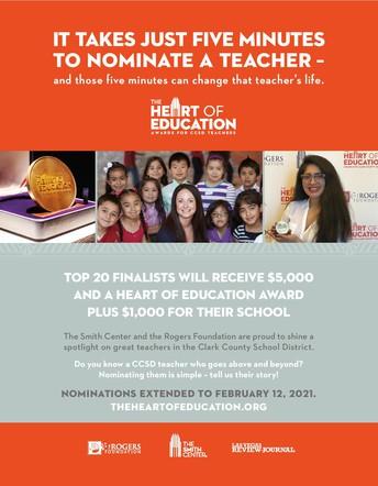 Nominate a deserving teacher!