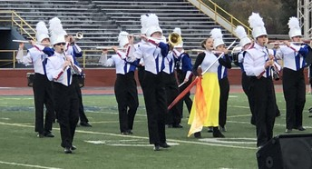 Clinton-Massie Marching Band Performs at OMEA State Event.