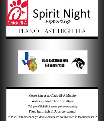 Next Chic-fil-A FFA Spirit night