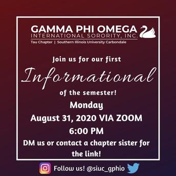 Gamma Phi Omega Informational