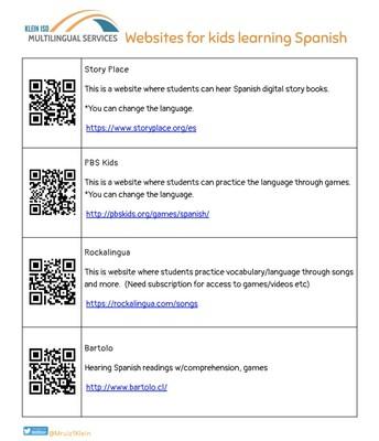 Websites for kids learning Spanish