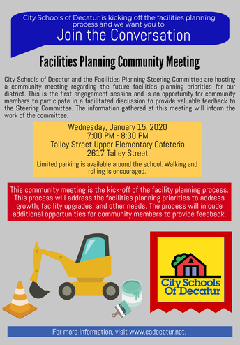 Facilities Planning Public Input Meeting: January 15, 2020