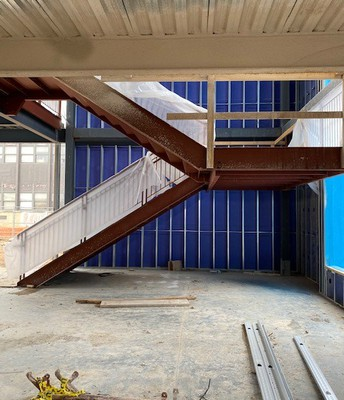 Stairwell in the new 8th grade wing
