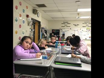 3rd Grade in their Math Block!