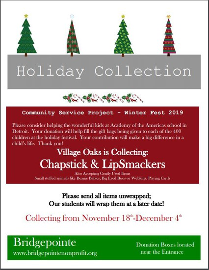 Holiday Collection Flyer
