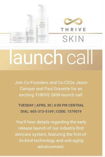 CBD SKINCARE! Thrive Skin launch   Smore Newsletters for