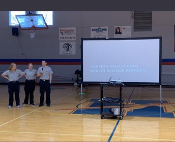 Harpeth High School CTE presentation to 7th and 8th graders