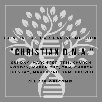 Join us for our Parish Mission!