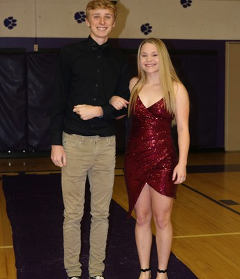 King Candidate Keegan Folchi with Escort Annie Folchi