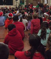 A holiday treat for students at Potter School!