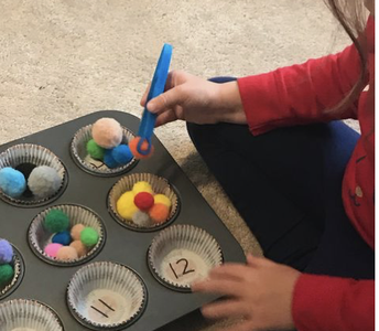 Math: Fine motor counting