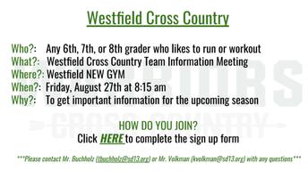 GOTTA RUN? >>Join Cross Country!