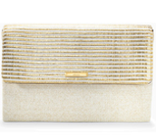 City Slim Clutch - Gold Stripe